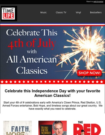 Reminder: Celebrate the 4th of July with American Classics!