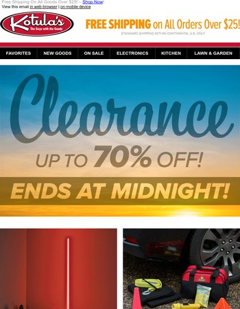 Final Day Clearance Deals! Up To 70% Off