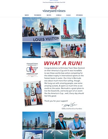 An awesome run as the Official Style of the America's Cup