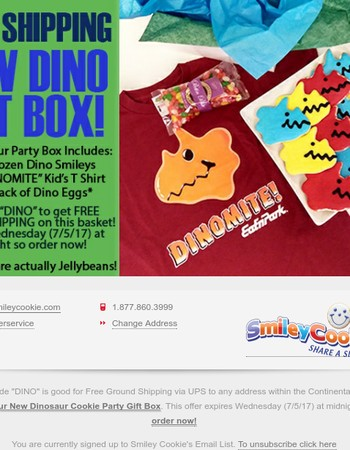 New DINOSAUR COOKIE Gift Box SHIPS FOR FREE!