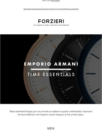 Emporio Armani // Time Essentials