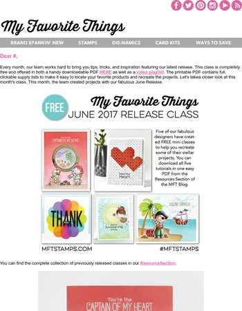Download Your Free June Class Today!