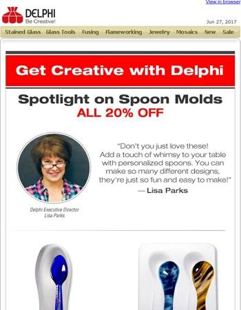 Spotlight on Spoon Molds All 20% Off