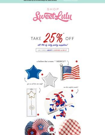Shop Sweet Lulu Newsletter