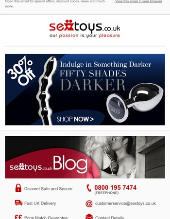 30% Off Fifty Shades Of Grey Darker Collection