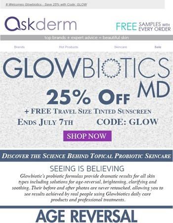 25% Off Glowbiotics + FREE Gift!