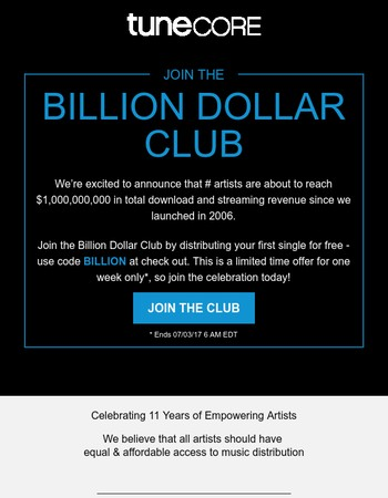A Billion Reasons to Join Us