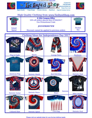 Even More Tie Dye Clothing Ideas for July 4th - Look Inside