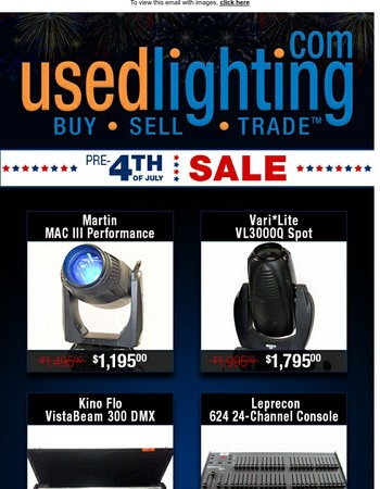 Pre-4th of July Sale!