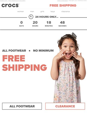 Ends tonight: FREE Shipping