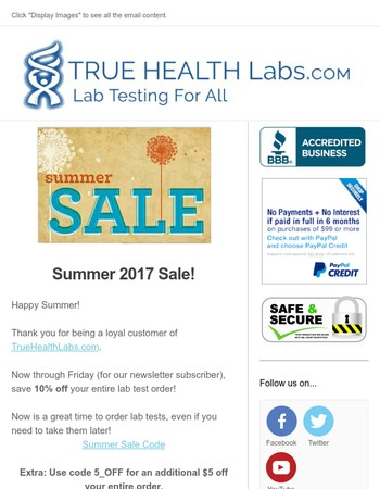 Summer Sale is Here! Save on All Lab Tests.