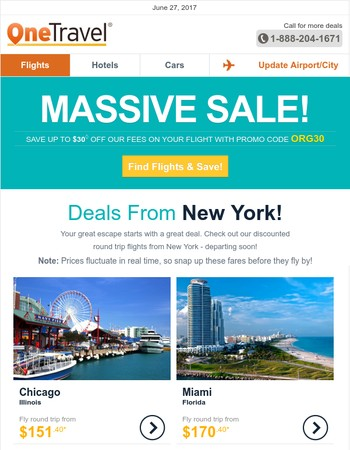 ✈ MASSIVE SALE: Fly from New York