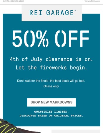 July 4th Clearance Savings – 50% Off New Markdowns