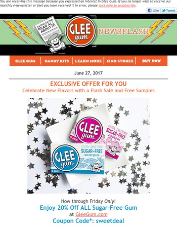 Try Two New Flavors of Glee Gum