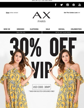 30% OFF VIP - ENDS IN 4 HOURS