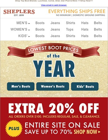 Boot Alert! LOWEST Boot Prices of the Year - Up to 70% Off
