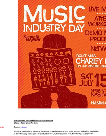 Attend Summer NAMM's Music Industry Day