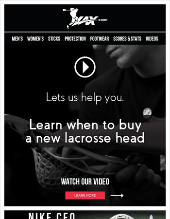 Video - When You Should Buy A New Lacrosse Head - Free Shipping On Nike CEO