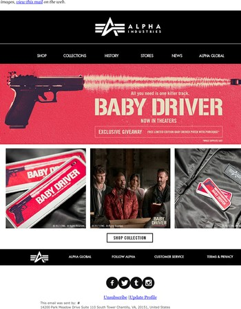 Don't Miss Out On Your Free Limited Edition BABY DRIVER Patch!