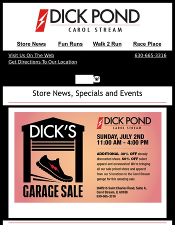They're Back! Garage Sale #2 and Walk 2 Run Session 2!