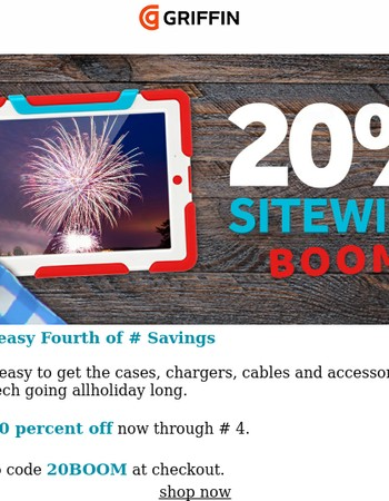 20% Sitewide. Boom.