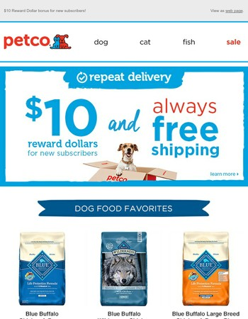Dog Food—Low Prices + FREE Shipping with Repeat Delivery.