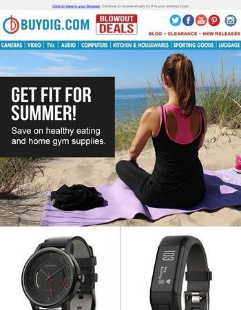 Get Summer Fit: Exercise Equipment, Fitness Trackers, Blenders, Grills, Headphones & More + Fast FREE Shipping!