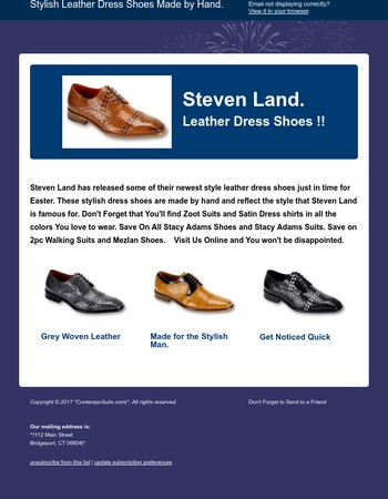 Leather Dress Shoes by Steven Land.