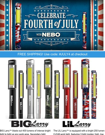 Awesome NEBO Lights & more - Discount expires July 4th