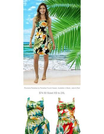 Must See! Plumeria Paradise Sarong Dresses!
