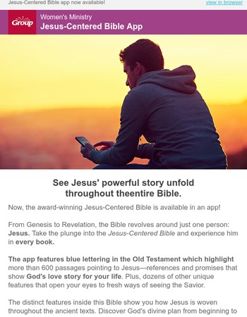 NEW Bible app - see Jesus' powerful story unfold