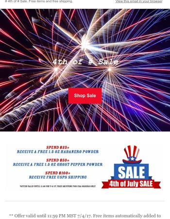 Sonoran Spice - 4th of July Sale - Free Shipping PLUS Free Items!