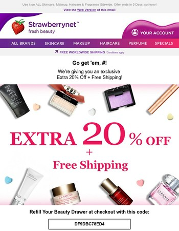 Mary You've Scored Extra 20% Off + Free Shipping!