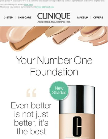 Have You Tried Our Number One Foundation?