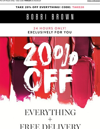 Take 20% Off Everything!