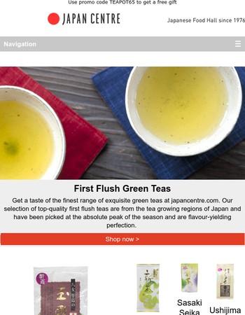 Enjoy first flush green teas plus get a free gift