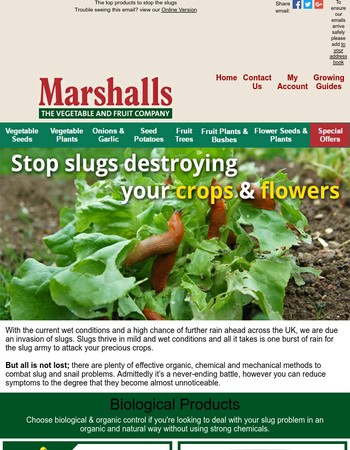 Got a Slug Problem? - We have the products to fight back