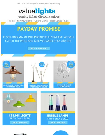 Payday Promise | Everyday Low Prices