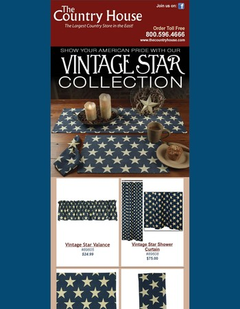Check out our Vintage Star Linen Collection