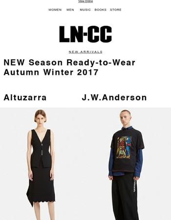 Just in: J.W. Anderson's heraldic symbolism / Altuzarra's soft tailoring + up to 60% off SALE