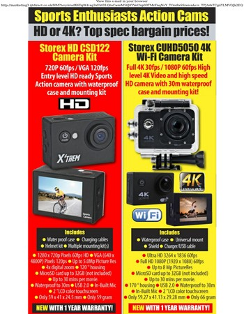 4K & HD action cams from £29.95 today
