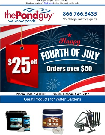 SAVE $25 Off $50 - Order by July 4th