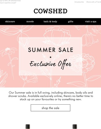 SALE: Exclusive online offer