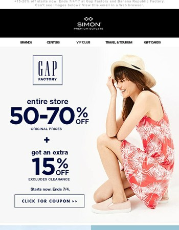 Enjoy 50-70% off entire store at your two favorite stores
