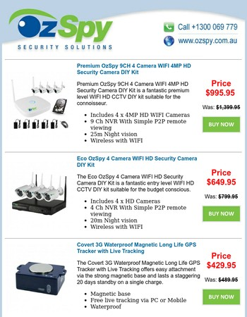 4MP WIFI DIY Kits - Covert GPS Trackers - OzSpy Specials