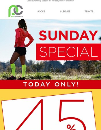 Flash Sale! Our Sunday Special
