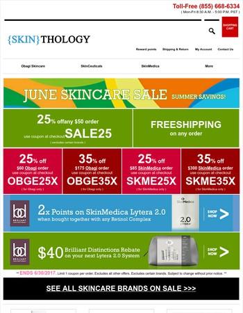 June Skincare Sale ★ 25-35% off ★ Summer Savings Start Here!