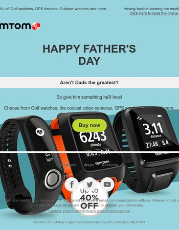 Happy Father's Day. Give Dad the coolest gadgets
