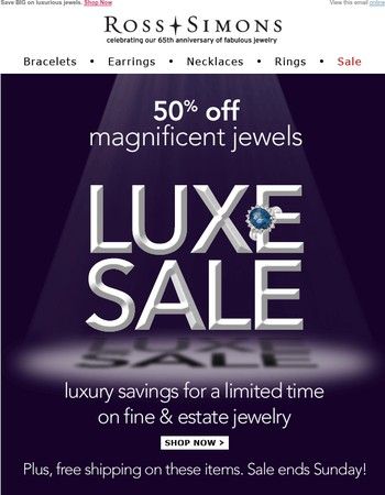 50% Off Magnificent Jewels – It's Showtime!
