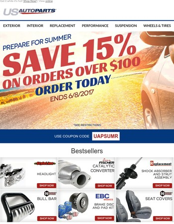 Beat the heat with new parts for your ride